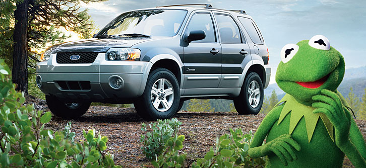 Kermit the Frog with Ford Escape Hybrid