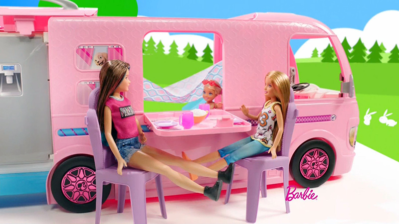 barbie camper set