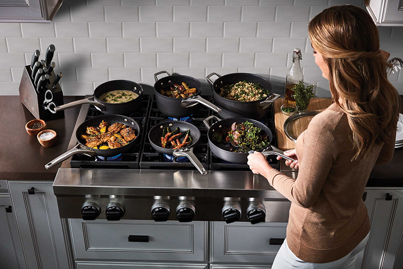 Calphalon Space Saving Nonstick Stainless Steel Cookware