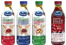 Ocean Spray Organic Blends and 100% Cranberry Juice
