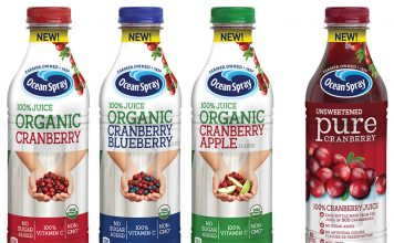 Ocean Spray Organic Blends and 100% Cranberry Juice