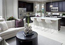 Interior Merchandising of a Model Home - Amethyst