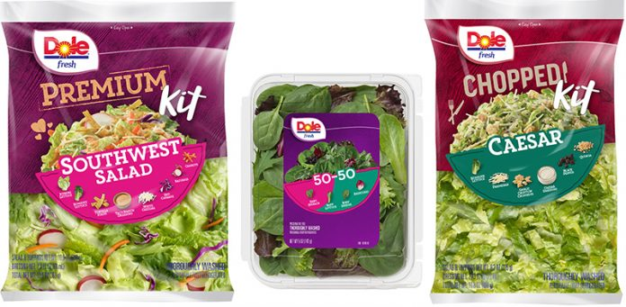 New Dole Salad Packaging Better Indicates Contents, Ingredients and Nutritional Benefits