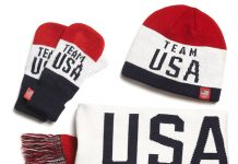 Old Navy Team USA Collection: Red White Blue Knit Mittens, Winter Hats, Knit Scarves