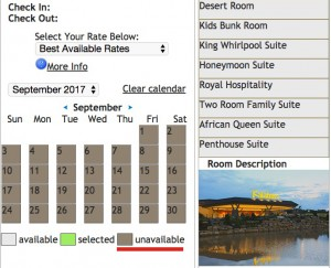 Pocono Kalahari Room Availability - none yet