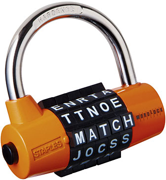 the traditional combination lock has undergone a makeover for this back to school season as letters replace numbers on word lock an innovative combination