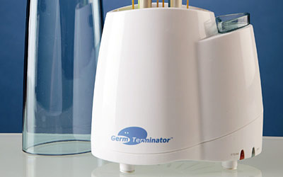 The sterilization equipment used in dental offices kills bristle germs